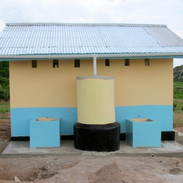 An example of toilets we build with hand-washing stations.